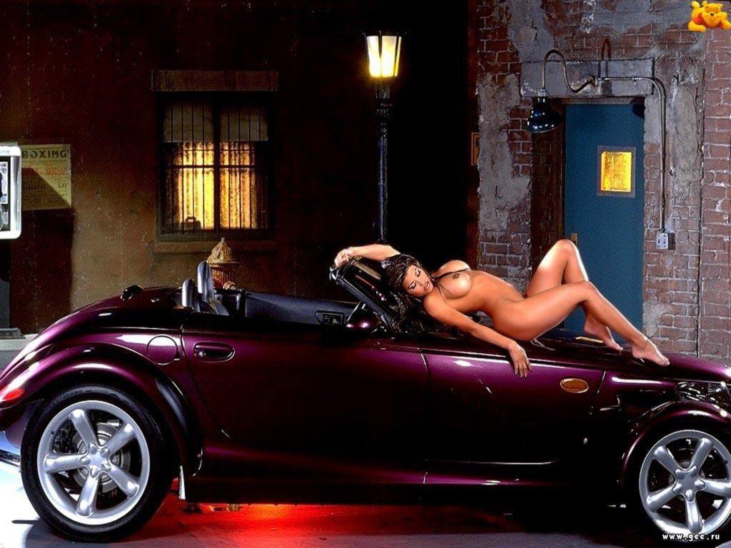 фото машины и голые девушки